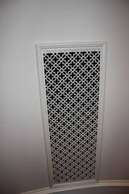 air conditioning floor vents. upgrade ac/heating vents w/ metal screening or wood patterned from pattern cut air conditioning floor