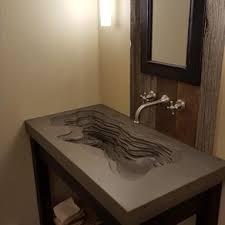 Concrete 'Topographic' Sink by Concrete Pete