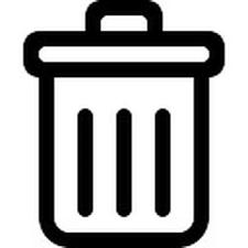 """Résultat de recherche d'images pour """"icône poubelle"""""""
