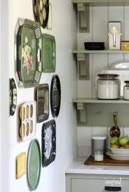 vintage metal tray gallery wall