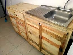Pallet Kitchen Furniture Diy Pallet Kitchen Cabinets Low Budget Renovation 99 Pallets