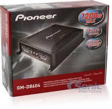 pioneer gm d8604. product name: amplified pioneer \u0026 sony four speakers package: gm- d8604 + 6.5\ gm