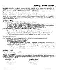 Download Winning Resume
