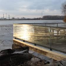 Aluminium Geländer Glas Glasplatten Für Terrasse Panorama