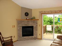 image of freestanding contemporary gas fireplace inserts