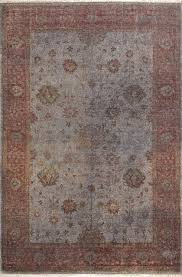 rugsville traditional overdyed gray rust wool rug 21071 6 x9 contemporary area rugs by rugsville
