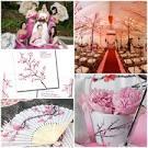 Cherry blossom theme bridesmaids dresses ideas