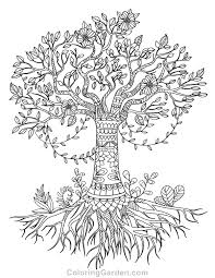 Small Picture Free printable tree of life adult coloring page Download it in