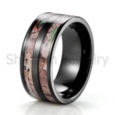 2019 whole black men s 10mm anium double realtree ap camo enement ring camofluge wedding band outdoor hunting ring from shardon jewelry