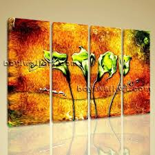 fl canvas wall art lovely abstract flower fl modern canvas wall art
