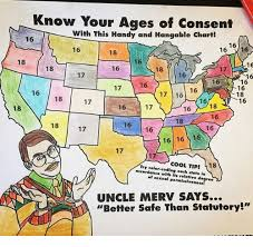 States Age Of Consent Chart Know Your Ages Of Consent With This Handy And Hangable Chart