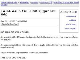 Most Honest Craigslist Dog Walking Ad Ever (PICTURE) | HuffPost