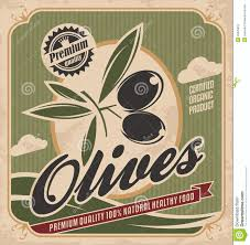 Vintage Food Labels Retro Olive Poster Design Stock Vector Illustration Of Badge 33025910