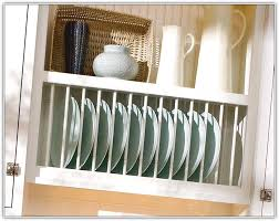 kitchen cabinet plate rack insert home design ideas