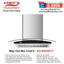 Máy Hút Mùi Chefs EH-R502E7T | Tổng Kho Bếp Nhập Khẩu Chính Hãng