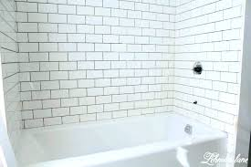 white subway tile bathtub tile shower tub combo tile bathtub white subway tile tub surround ideas