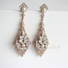 vintage bridal chandelier earrings