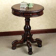 decoration round wood accent table topic to ravishing small glass top end cherry