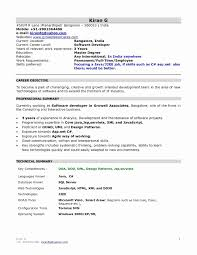 Fresher Resume Format New 53 Awesome Abap Resume Sample Resume