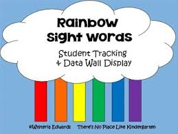 Rainbow Sight Words Data Collection Tools By Theres No Place Like