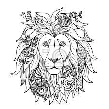 Fototapeta Lion Vektorové Ilustrace Pro Textilní Tisky Tetování Znamení