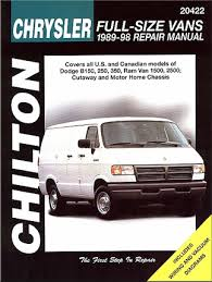 dodge full size van repair manual by chilton  dodge b150 250 350 ram van 1500 2500 repair manual 1989