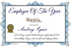 Employee Of The Year Certificate Template Free Employee Of The Year Certificate Printable New Award