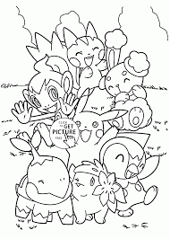 Cute Pokemon Coloring Pages For Kids
