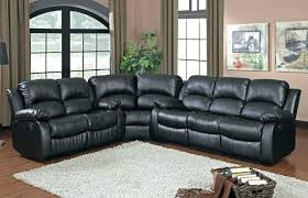 medium size of black leather reclining sectional sofa chaise recliner top grain 5 seater