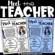 Meet The Teacher Letter Templates Meet The Teacher Template 1