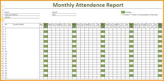 Attendance Report Template