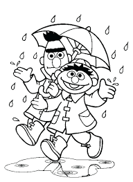 Sesame Street Coloring Pages Sweet Mini Free Printable Page