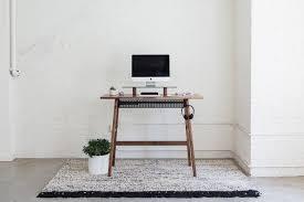 standing desk imac. Delighful Imac Walnut Standing Desk 02 With Large Stand IMac Basket And  Headphones  ARTIFOX To Imac I