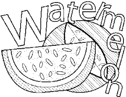 Small Picture Watermelon Coloring Page