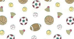 Kids Sports Vintage Wallpaper Soccer Badminton Baseball Football GW2081