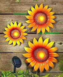 sunflower wall decor art outdoor metal garden