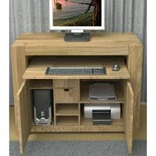 hidden home office. hidden home office desk atlas chunky oak .