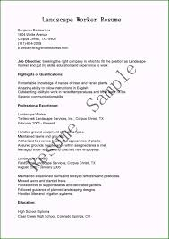 45 Well Designed Landscaping Resume Examples For 2019