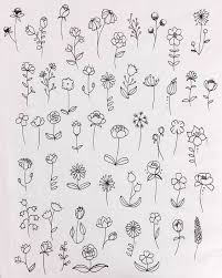 Check out how to draw a basic flower like rose, tulip, hibiscus and other flower patterns in your bullet. 30 Ways To Draw Flowers Flower Art Drawing Flower Doodles Simple Flower Drawing