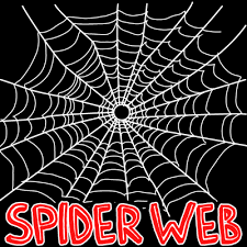 web drawing how to draw spider webs with easy step by step drawing tutorial