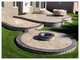 concrete patio with fire pit.  Pit 02RuggeroStampedConcretePatiosMacombMI Intended Concrete Patio With Fire Pit D