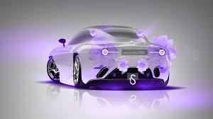 alfa romeo disco volante fantasy flowers car