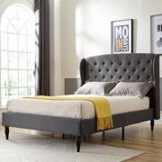 bed frame with headboard. Contemporary Headboard Modern Sleep Coventry Upholstered Platform Bed  Headboard And Metal Frame  With Wood Slat Support Intended With