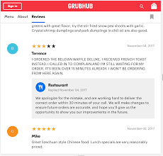 restaurant review examples best practices for replying to reviews get grubhub