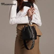 <b>Luxury</b> Snake Pattern Wide Shoulder Strap <b>Bucket Bag</b> Pu Leather ...
