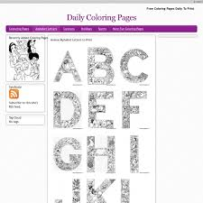 Small Picture Daily Coloring Pages Alphabet Coloring Coloring Pages