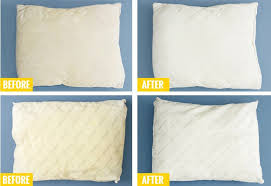 our ion manager brittany offered to test out this method on a couple of her old pillows check out that before and after