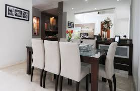 captivating dark brown table pleted by vase flower decoration on table of dining room decorating ideas