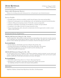 resume for restaurant restaurant resume examples lifespanlearn info