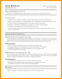 resume for restaurant restaurant resume examples lifespanlearn info
